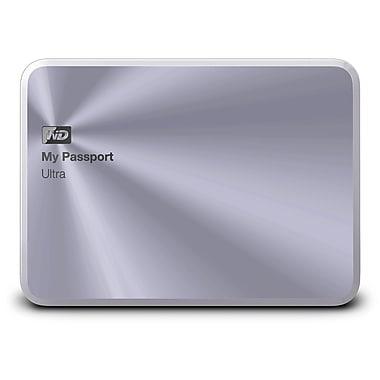 WD 1TB Silver My Passport Ultra Metal Edition USB 3.0 Portable External Hard Drive, WDBTYH0010BSL-NESN