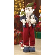 Zingz & Thingz 2 Piece Merry Snowman Plush Decor