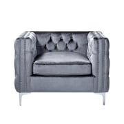 Inspired Home Co. Leonardo Tufted Club Chair; Gray