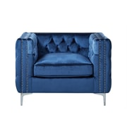 Inspired Home Co. Leonardo Tufted Club Chair; Blue