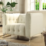 Inspired Home Co. Seurat Tufted Club Chair; Beige