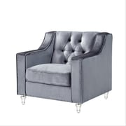 Inspired Home Co. Marlowe Tufted Club Chair; Gray
