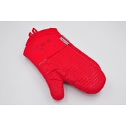 L.A Sweet Home Silicone 2 Piece Oven Mitts; Red