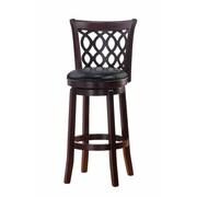 Mintra Allison 43'' Swivel Bar Stool w/ Cushion; Espresso