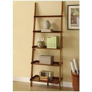 Mintra 72'' Leaning Bookcase; Mahogany