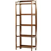 Darby Home Co Troy 60.25'' Etagere Bookcase; Warm Brown