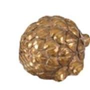 Charlton Home Resin Artichoke Sculpture; Gold
