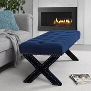 Inspired Home Co. Lovell Bedroom Bench; Navy