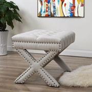 Inspired Home Co. Lovell Bedroom Bench; Cream White