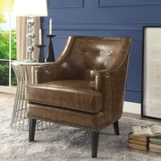 Inspired Home Co. Peabody Club Chair; Camel Brown