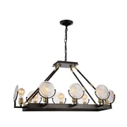 CrystalWorld Bhima 8-Light LED Design Pendant