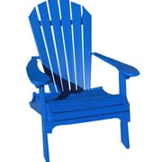 Buyers Choice Phat Tommy Folding Recycled Poly Adirondack Chair; Marina Blue