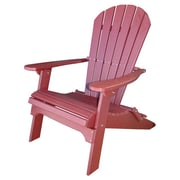 Buyers Choice Phat Tommy Folding Recycled Poly Adirondack Chair; Merlot