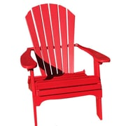 Buyers Choice Phat Tommy Folding Recycled Poly Adirondack Chair; Red