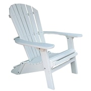 Buyers Choice Phat Tommy Folding Recycled Poly Adirondack Chair; Alpine White