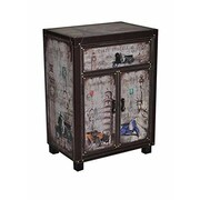 Essential Decor & Beyond 2 Door 1 Drawer Wooden Storage Living Room Cabinet