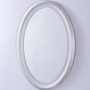 Bellaterra Home Oval PVC Frame Wall Mirror; Pewter