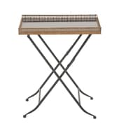 Cole & Grey Metal and Mable Tray Table