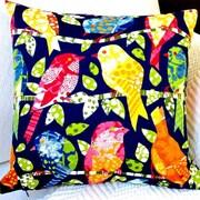 Artisan Pillows Kids Animals Colorful Birds Indoor/Outdoor Throw Pillow (Set of 2)