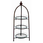 Cole & Grey Urban Trends Metal Glass 3 Tier Storage Tiered Stand