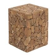Cole & Grey Teak Wood Accent Stool