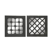 Cole & Grey 2 Piece Wood and Mirror Wall Decor Set