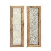 Cole & Grey 2 Piece Wood Mosaic Wall Decor Set