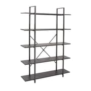 Cole & Grey Wood and Metal 70'' Etagere Bookcase