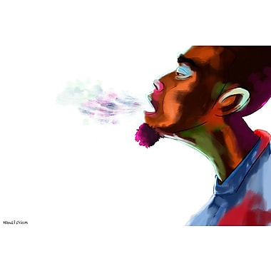 Maxwell Dickson Guy Breathe Painting Print on Wrapped Canvas; 20'' H x 30'' W
