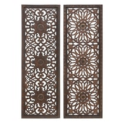 Cole & Grey 2 Piece Wood Wall Decor Set (Set of 2)