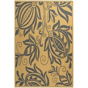 August Grove Laurel Natural / Blue Outdoor Area Rug; 5'3'' x 7'7''