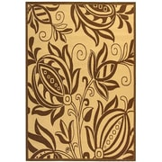 August Grove Laurel Natural / Brown Outdoor Area Rug; 5'3'' x 7'7''