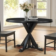 Alcott Hill Fanning X Base Dining Table; Antique Black