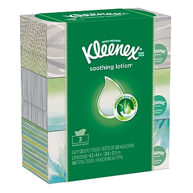 Kleenex® Lotion Facial Tissue, 3/Pack