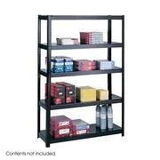 """Safco Commercial Boltless Steel Shelving, 5 Shelves, Black, 72""""H x 48 1/8""""W x 18""""D"""