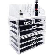 Ikee Design 3 Piece Jewelry and Cosmetic Storage Display Box Set