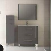 Eviva Libra  31.5'' Single Bathroom Vanity Set; Gray