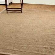 Affinity Linens Natural Fiber Basket Weave Sisal Hand-Woven Natural/Beige Indoor/Outdoor Area Rug
