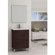 Eviva Cup  24'' Single Bathroom Vanity Set; Wenge