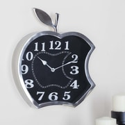 Cole & Grey Stainless Steel Apple Wall Clock