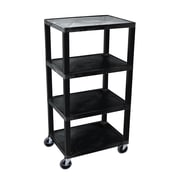 Offex Tuffy 4 Shelves Utility Cart; Black