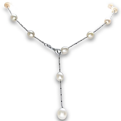 Freshwater Pearls By The Yard Necklace, Tin Cup Style 2707909