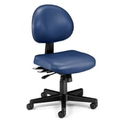 OFM 24 Hour Intensive Use Task Chair, Armless,Blue, Anti-Microbial Anti-Bacterial Vinyl