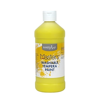 Little Masters Non-toxic 16 oz. Washable Paint, Yellow (RPC211710)