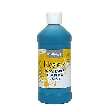 Little Masters Non-toxic 16 oz. Washable Paint, Turquoise (RPC211735)