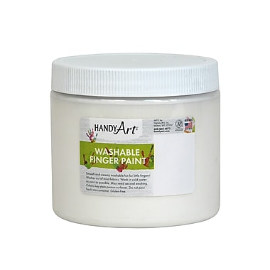 Handy Art Non-toxic 16 oz. Washable Finger Paint, White (RPC241005)