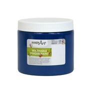 Handy Art Non-toxic 16 oz. Washable Finger Paint, Blue (RPC241030)