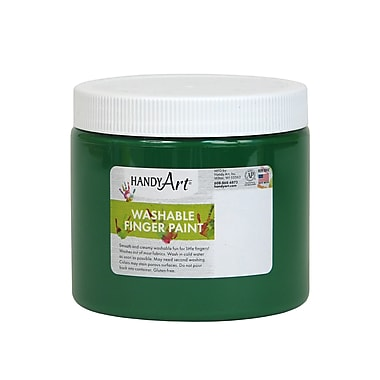 Handy Art Non-toxic 16 oz. Washable Finger Paint, Green (RPC241045)