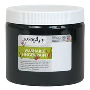 Handy Art Non-toxic 16 oz. Washable Finger Paint, Black (RPC241055)