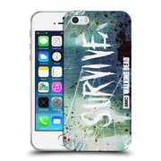 Official Amc The Walking Dead Typography Survive Torned Glass Soft Gel Case For Apple Iphone 5 / 5S / Se